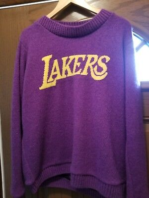 eb542a3b924a The Elder Statesman X NBA Los Angeles Lakers 100% Cashmere Sweater Lebron  James