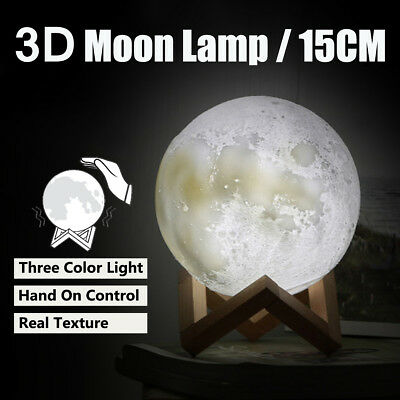 Dimmable 3D Magical Moon  USB LED Night Light Moonlight Touch Sensor