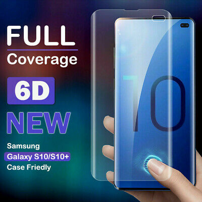 6D Full UV Tempered Glass Screen Film Protector For Samsung Galaxy S10 Plus S10e