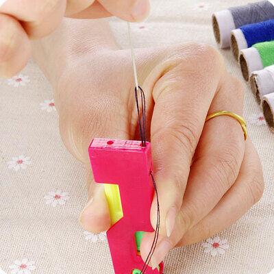 6Pcs Automatic Needle Threader Thread Guide Elderly Use Device Sewing Tool