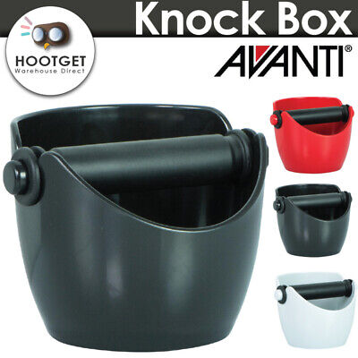 [3 Colours] AVANTI COFFEE KNOCK BOX Bin Espresso Grinds Tamper Waste Tamp Tube