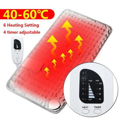 Electric Heating Pad Neck Shoulder Back Pain Relief Heated Wrap Temp