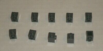 87087 NEUF LEGO x 10  Dark Bluish Gray Brick Modified 1x1 with Stud on 1 Side