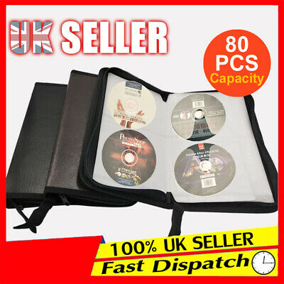 Portable Wallet Discs PU Leather  Cases CD DVD Storage Holder Bags Capacity