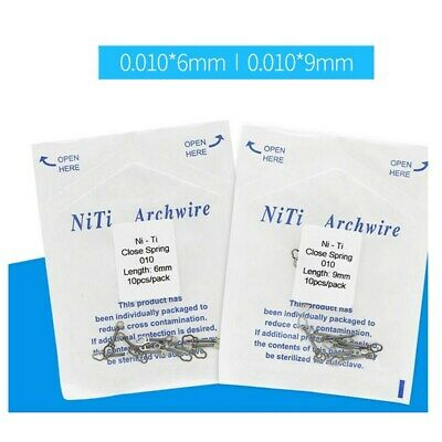 10 Pcs Close Coil Spring NiTi Alloy Dental Orthodontic Medium Force 0.010/0.012