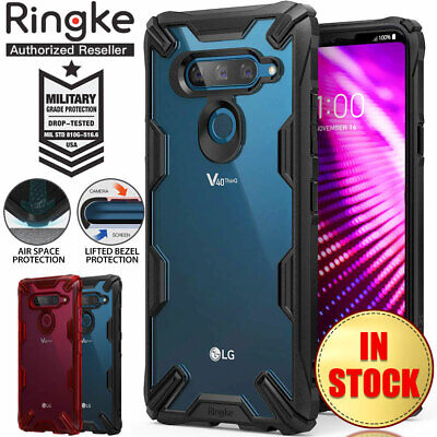 LG V40 Case Genuine RINGKE FUSION X Shockproof Clear Hard PC Cover For LG