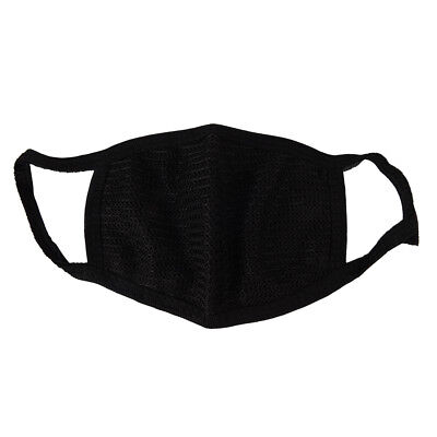 Black Unisex Mens Womens Cycling Anti-Dust Cotton Mouth Face Mask Respirator MT
