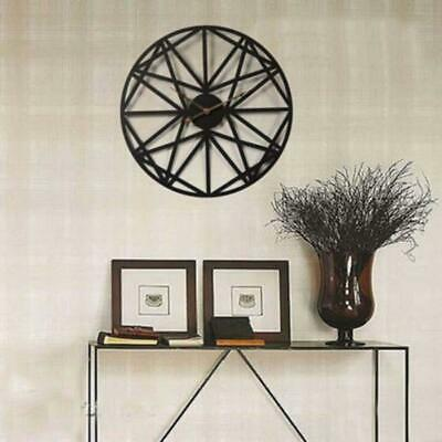 Clock Wall Vintage 3d Home Decor Brown Gear Retro Antique Wooden Room Large Room