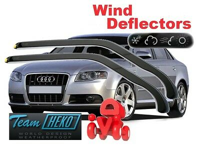Audi A4 B6 B7 01-09 SALOON / ESTATE  Wind deflectors  HEKO 10207 for FRONT DOORS