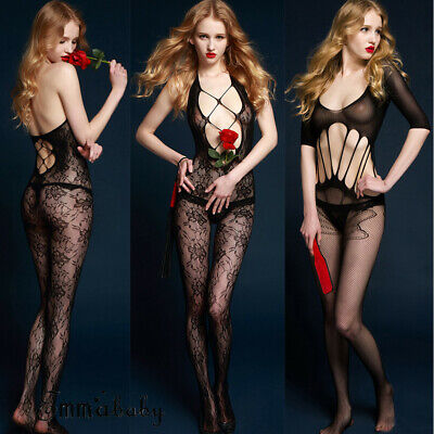 AU Women's Body Fishnet Stockings Sleepwear Adult New Bodysuit Lingerie Babydoll