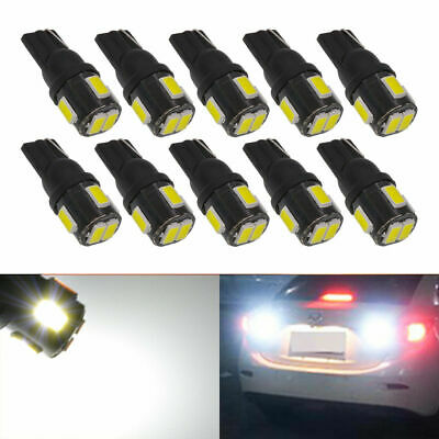 2x T10 W5W 5630 6-SMD LED Car Wedge Side Light Bulb Lamp 168 194 192 158 Black