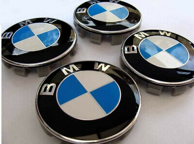 Set of 4 BMW Wheel Centre Caps 68mm 10 Pin Clips Fits 1 3 5 7 Series E F M X NEW