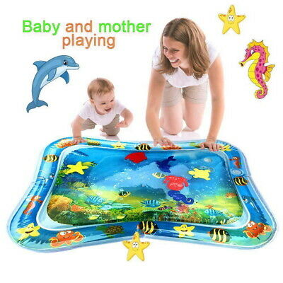 Inflatable Water Mat Pat Tummy Time Infants &Toddlers Kids Baby Play Center Fun