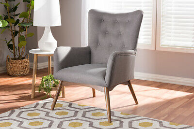 Pleasant Baxton Studio Flora Mid Century Modern Light Grey Fabric And Gmtry Best Dining Table And Chair Ideas Images Gmtryco