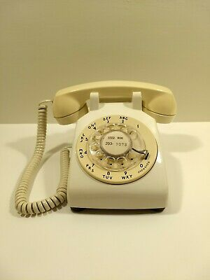 Vintage 500DM BELL SYSTEM WESTERN ELECTRIC Rotary Dial Desk Phone 1967 Working