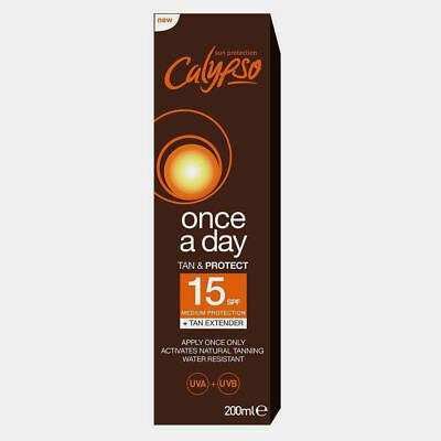 Calypso Once A Day 'tan & protect' SPF15, 200 ml (PACK OF 2)