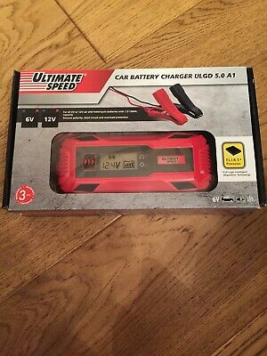 Ultimate Speed Car & Motorbike Battery Charger ULGD 5.0A A1 6V 12V Short Circuit