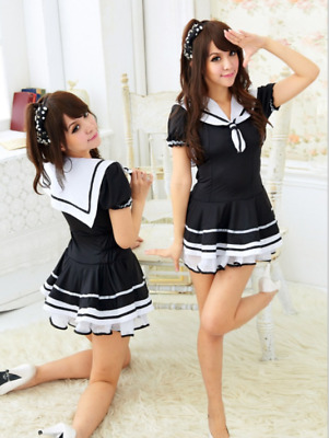 Woman Girls Sexy Lingeries Student Play Uniform Temptation Sailor Dress Skirt