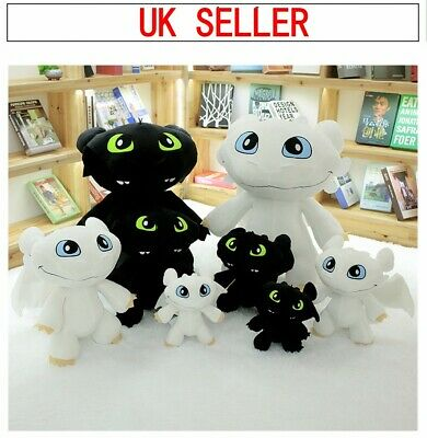 How to Train Your Dragon 3 Toothless Night Fury Light Fury Plush Toy Doll Gift