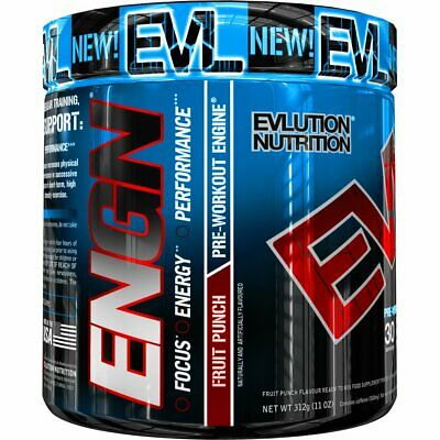 Evlution Nutrition ENGN Pre-Workout, Pikatropin-Free, Fruit Punch, 30 Servings,