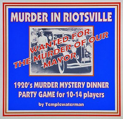 HOST A 1980/'s MURDER MYSTERY DINNER PARTY GAME ~ FOR 10 PLAYERS