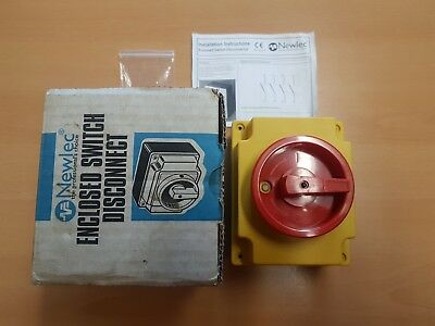 NEWLEC NLSW40/4N Enclosed Switch disconnector 4 Pole 415V, 40A, 15KW