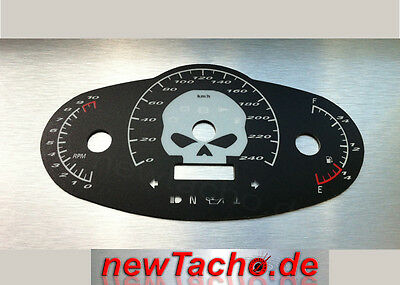 Harley Night Rod Special km/h SKULL Tachoscheibe VRSCDX Gauge Tacho cluster dial