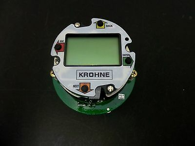Krohne Vfm1091 Flowmeter Control Card Vortex C/W Hart And Display - Loop Powered