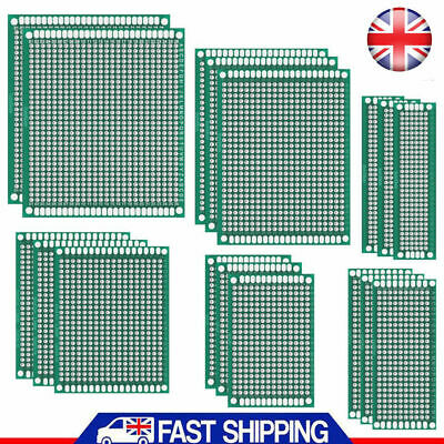 20x FR4 Prototype PCB Bread Board Double Side Tinned Printed Universal 7 Size