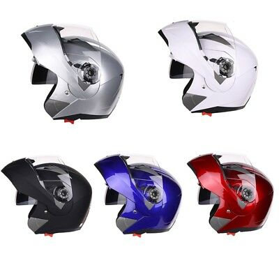 Adults FULL FACE Modular Flip Up Front Helmet Suit Road Bike Motorcycle ATV ABS