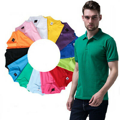 Casual Short Sleeve T Shirt Men's Polo Tee Cotton Slim Fit Hot Sports T Shirt