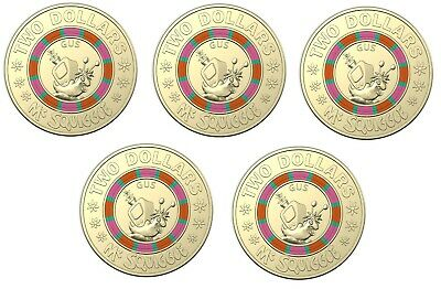 Great Investment BILL 2019 $2 Coin 60th Anniversary of Mr Squiggle UNC