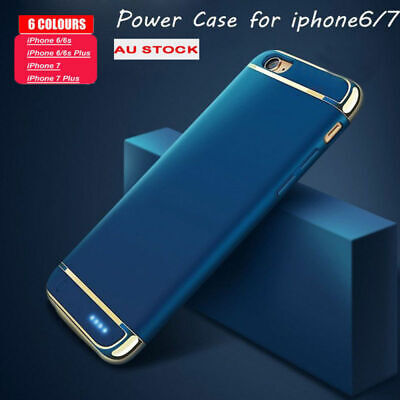 Battery External Power bank Charger Case Charging Cover For iPhone 7 8 6 X Plus