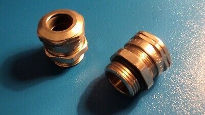 M16 Capri Nickel Plated Brass Cable Gland = Pk 2