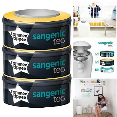 Tommee Tippee nappy disposal  system  Sangenic Tec Refill Cassettes x 3