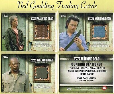 The Walking Dead - SEASON 6 ☆ AUTHENTIC WARDROBE/PROP/RELIC ☆ Trading Cards
