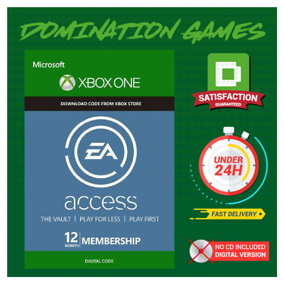 EA ACCESS 12 Month Membership - XBOX ONE - 1 year subscription