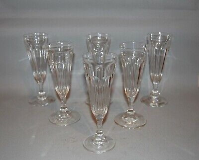 Set of 6 C19th Champagne Flutes