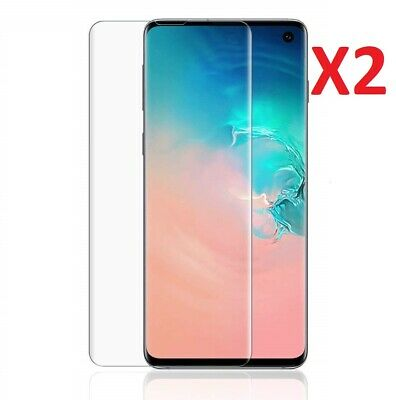 2 X For Samsung Galaxy S10 Full Coverage Ultra Clear Screen Protector TPU