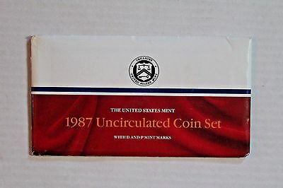 Genuine 1987 United States Mint Uncirculated Coin Set