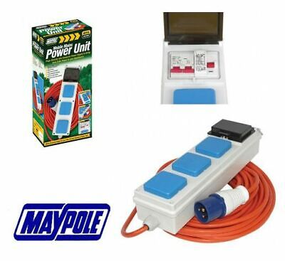 New MAYPOLE CARAVAN MOBILE MAINS POWER UNIT 3765 230V 10A