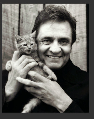 JOHNNY CASH , and kitten !
