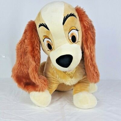 "Disney Store Exclusive Plush Lady and the Tramp Dog 22"" Stuffed Animal Large"