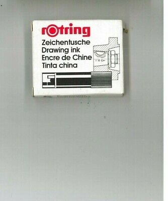 10 Confezioni, cartucce nere Rotring art.590217 zeichentusche drawing ink, CHINA