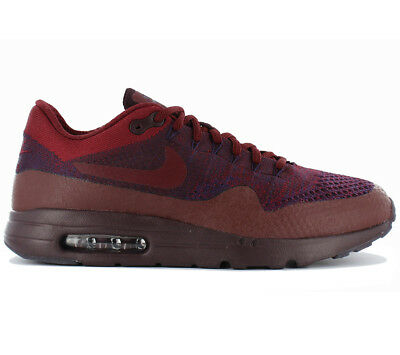 NIKE AIR MAX 1 Ultra Flyknit Baskets Chaussures pour Hommes Rot Purple Textile
