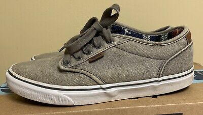 f81d9356cb3b9e Mens VANS gray classic canvas skateboard sneakers shoes size 7.5 low top