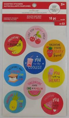 Creatology Valentine's Day Scented Stickers 18 PC New Food Scratch Sniff