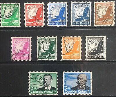 Germany Third Reich 1934 Golden Eagle, Lilienthal & Zeppelin Used