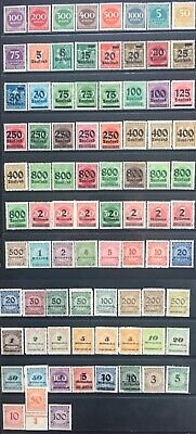 Germany 1923 Inflation Year issues MNH/MLH