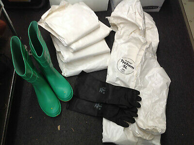DuPont™ Tychem SL Coveralls/ OnGuard™ Hazmat Boots/ Best™ Gloves (#820-E-4)